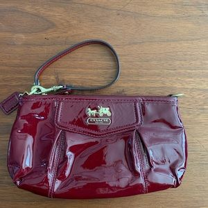 Authentic Coach Madison Patent Leather Wristlet